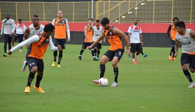 Os 23 jogadores relacionados para a partida já estão na concentração do clube - Foto: Francisco Galvão | E.C. Vitória | Divulgação