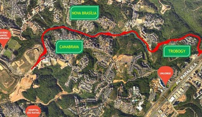 Rodovia terá quatro quilômetros de extensão e levará 18 meses para ficar pronta - Foto: Divulgação   Conder