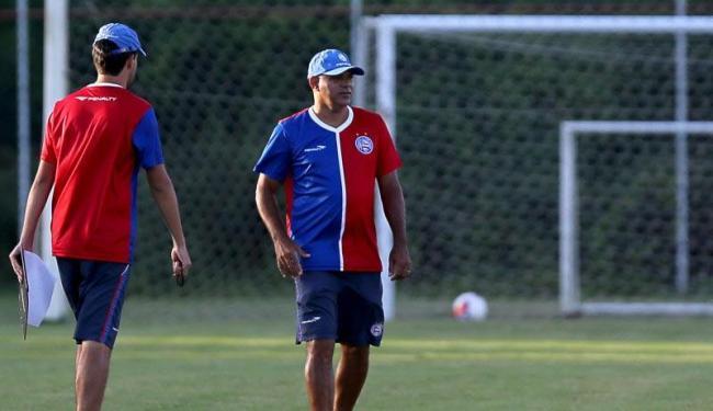 Novo técnico tricolor realizou um trabalho tático com bola - Foto: Felipe Oliveira | E.C.Bahia | Divulgação