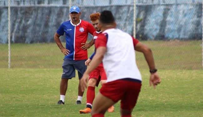 O time foi dividido e treinou em dois períodos - Foto: Divulgação | E.C.Bahia
