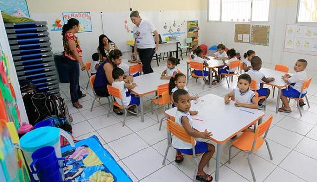 Escola de educação infantil Doutor Augusto Lopes Pontes foi toda reformada - Foto: Luciano da Matta l Ag. A TARDE