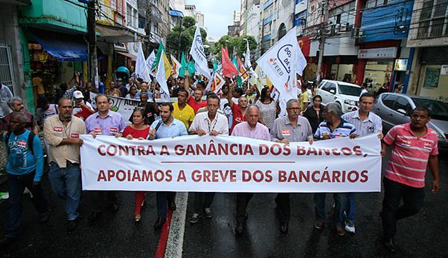 A greve dos bancários começou no dia 6 de outubro em todo o país - Foto: Fernando Amorim l Ag. A TARDE