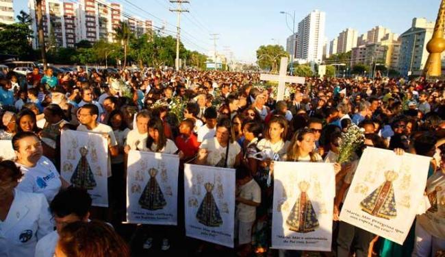 O dia dedicado à padroeira teve missa presidida por dom Estevam dos Santos Silva - Foto: Fernando Amorim | Ag. A TARDE