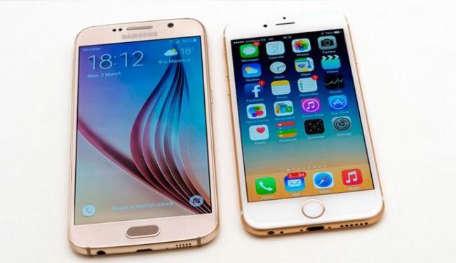 Quem será que leva a melhor? O Smartphone da Samsung ou o da Apple? - Foto: Divulgação