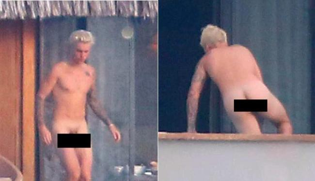 Justin Bieber estava bem à vontade em Bora Bora - Foto: Reprodução | Twitter