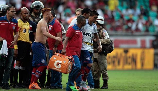 Atacante foi expulso de campo no Ba-Vi do último dia 3 de outubro - Foto: Raul Spinassé | Ag. A TARDE