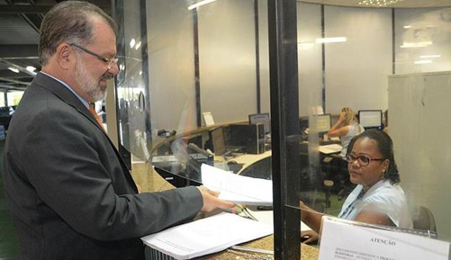 Marcelo Nilo apresenta no TRE-BA pedido de desfiliação - Foto: Sandra Travassos l Divulgação