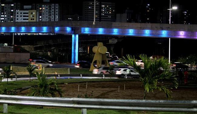 Complexo Viário do Imbuí também será iluminado com a cor azul durante a ação - Foto: Elói CorrêaGOVBA