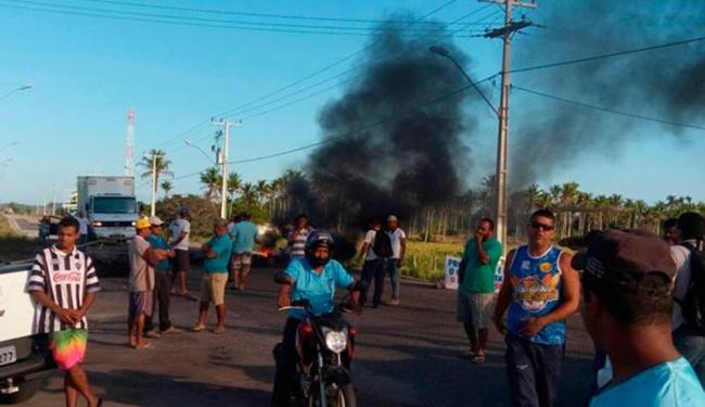 O protesto foi iniciado por volta das 4h - Foto: Divulgação   89ª CIPM
