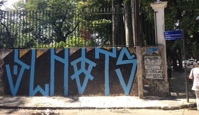 Estudantes são detidos por fazer grafitti em muro do Museu Costa Pinto - Foto: Anderson Sotero | Ag. A TARDE