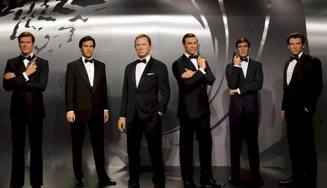 Visitantes podem ver de perto esculturas dos atores que interpretaram o agente no cinema - Foto: Divulgação   Madame Tussaud