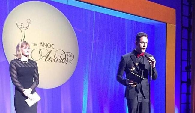 O nadador foi premiado como melhor atleta dos Jogos Pan-Americanos em Washington - Foto: Divulgação | COB