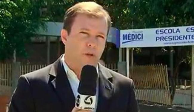 O jornalista Alex Barbosa é da TV Centro América, afiliada da Globo no Mato Grosso - Foto: Reprodução