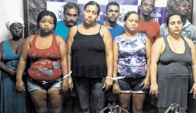 Segundo delegado, presos fazem parte da mesma família. Oito ainda são procurados - Foto: Ascom l Polícia Civil