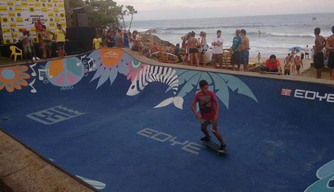 Pista de skate também tem chamado a atenção em Itacaré - Foto: Daniela Castro l Ag. A TARDE