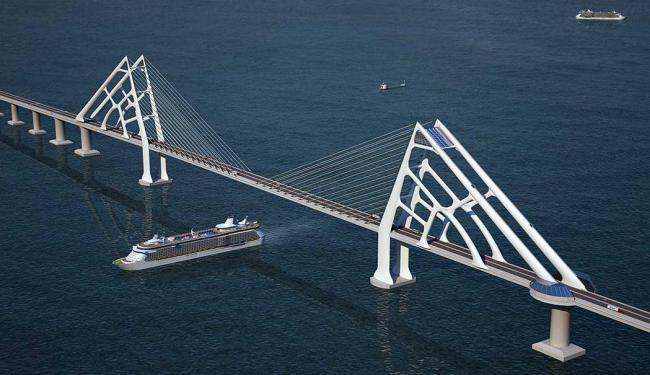 Com 2,2 quilômetros de extensão, ponte será feita via Parceria Público-Privada - Foto: Divulgação