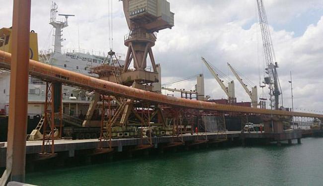 A operação prejudicou o desembarque de fertilizantes - Foto: José Augusto Oliveira l Divulgação