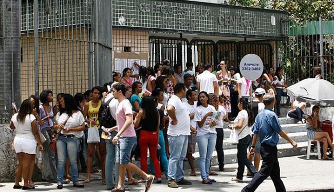 Colégio Central, em Nazaré, é um dos locais tradicionais das provas - Foto: Luciano da Matta l Ag. A TARDE l 08.11.2014