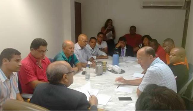 A reunião com o MTE e sindicato patronal começou depois de protesto desta quinta, 8 - Foto: Reprodução | Sindicato dos Rodoviários da Bahia