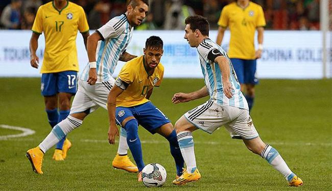 No último duelo, pelo Superclássico das Américas, o Brasil levou a melhor e venceu por 2 a 0 - Foto: Reuters