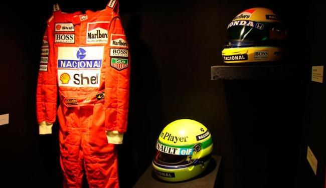 Exposição mostrará da infância até a carreira, com objetos que o piloto usou em corridas - Foto: Divulgação