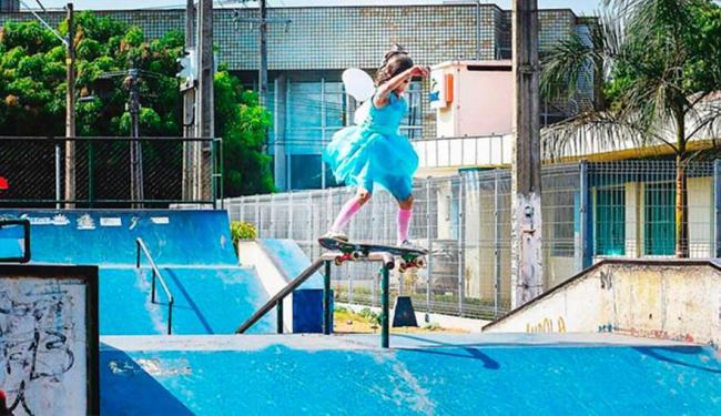 Com apenas com 7 anos, Rayssa Leal faz bonito e diz que skate é
