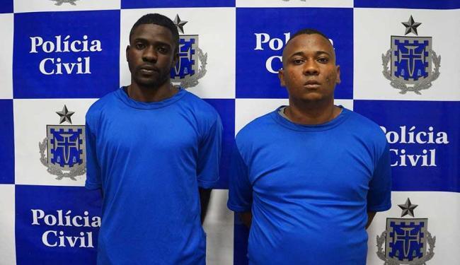 Leslie Walace e Danilo foram apresentados na manhã desta sexta-feira, 16 - Foto: Ascom | Polícia Civil