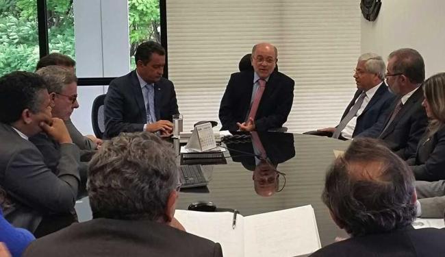Governador durante reunião com o presidente do TCU - Foto: Divulgação