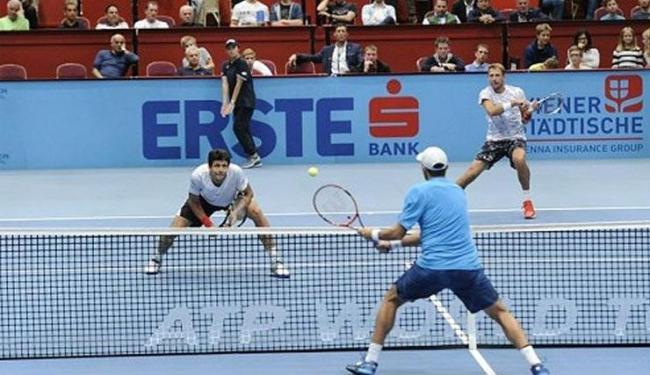 Melo mostrou superioridade para vencer Marrero e Seppi em sets diretos neste sábado - Foto: ATP Viena   Reprodução