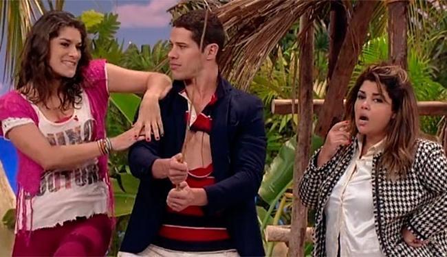 Priscila e Fabiana com José Loreto na última edição do humorístico - Foto: TV Globo | Divulgação
