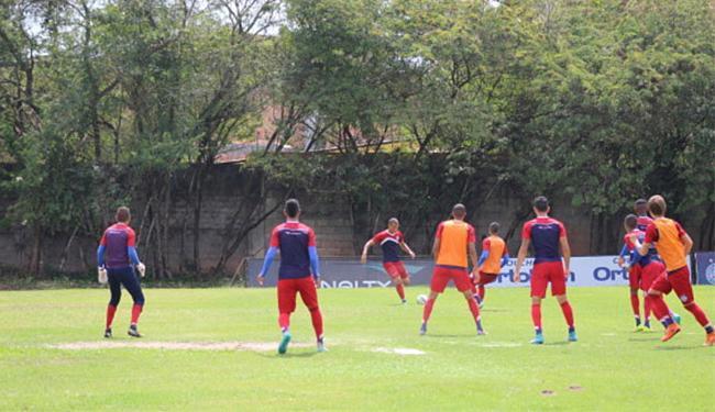 Técnico Aroldo Moreira comandou no Fazendão o último treinamento, antes do confronto - Foto: Divulgação l E.C. Bahia