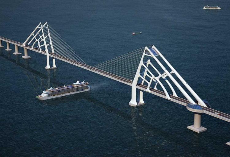 A ponte terá 12,3 quilômetros de extensão - Foto: Divulgação