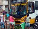 Casas são destruídas em protesto na avenida Suburbana - Foto: Guto | Trânsito Salvador | Via WhatsApp