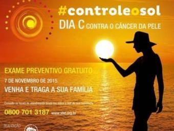 Cartaz da campanha pelo Dia C de combate ao câncer de pele - Foto: Divulgação