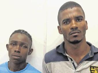 Buiú (à direita) afirma que é inocente. Ele foi detido em Vila Laura com drogas - Foto: Divulgação l Polícia Civil