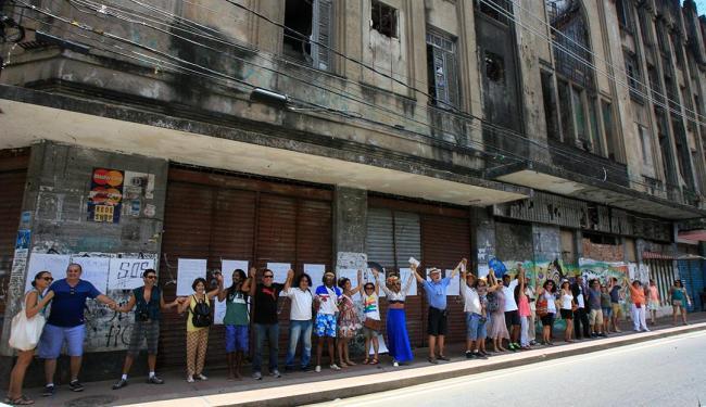 Objetivo do ato é chamar a atenção das autoridades para a situação do Jandaia - Foto: Luciano da Matta | Ag. A TARDE