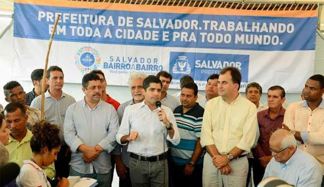 ACM Neto assinou nesta segunda ordem de serviço de obra na Suburbana - Foto: Divulgação | Prefeitura de Salvador