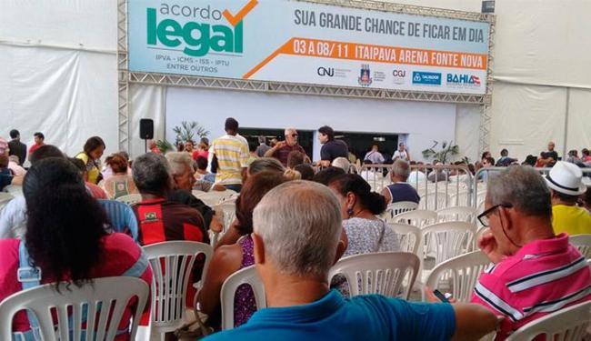 Mutirão segue até domingo, 8, na Arena Fonte Nova - Foto: Edilson Lima | Ag. A TARDE