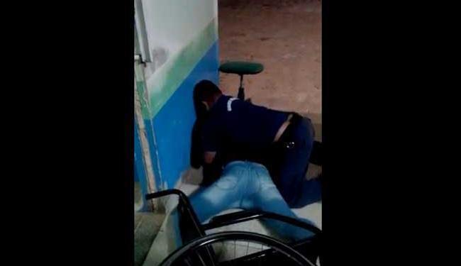 Após xingamento guarda imobilizou homem - Foto: Reprodução | Youtube