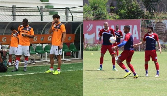 No Leão, Mancini pediu foco na reta final. Já no Bahia, diretor foi ao campo conversar com atletas - Foto: Divulgação l E.C. Vitória e Felipe Oliveira l E.C. Bahia