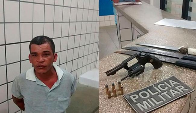 Por estar bêbado, Renildo da Silva não conseguiu atirar em Anailton dos Santos - Foto: Reprodução | Teixeira News