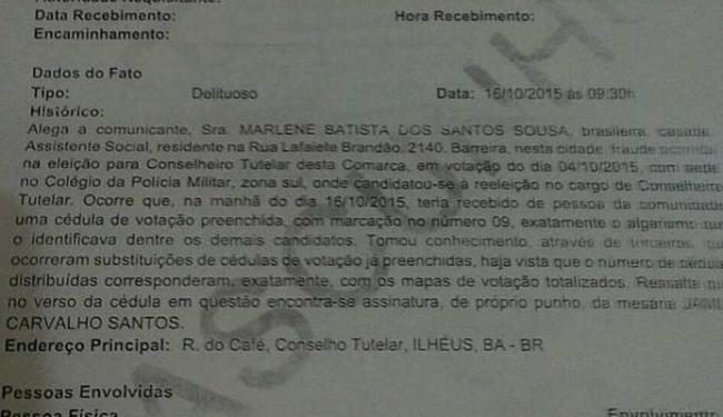 Candidata registrou denúncia na Polícia Civil - Foto: Marlene dos Santos | Cidadão Repóter