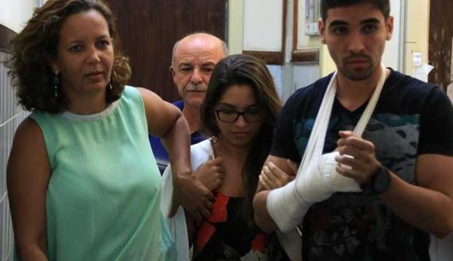 Carla Verena (de óculos) prestou depoimento na tarde desta quarta - Foto: Joa Souza | Ag. A TARDE
