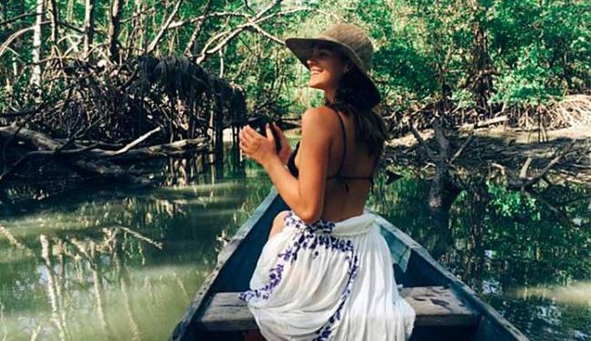 Nas fotos, Bruna apareceu sozinha apreciando as belezas naturais da região - Foto: Reprodução | Instagram
