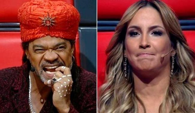 Claudia levou a atitude de Brown na brincadeira - Foto: Reprodução   TV Globo