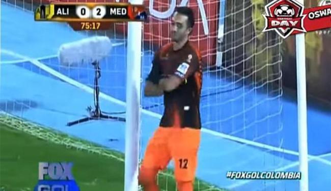 O goleiro ficou parado ao lado da trave e se recusava a defender o pênalti - Foto: Reprodução