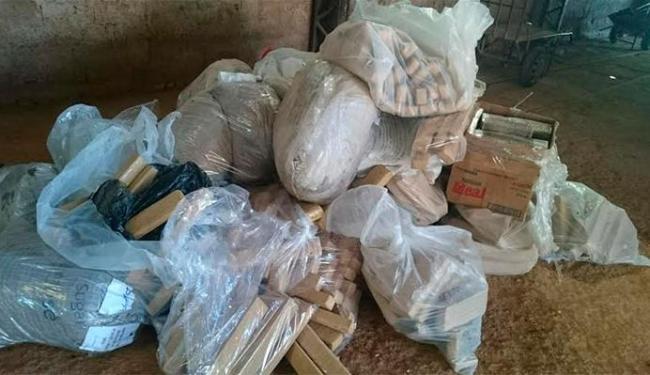 Drogas foram queimadas em um galpão - Foto: Divulgação   Polícia Civil