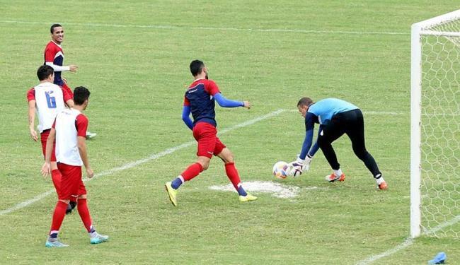 O grupo fez seu último treino antes do jogo de sábado contra o Atlético-GO - Foto: Felipe Oliveira | E.C. Bahia | Divulgação
