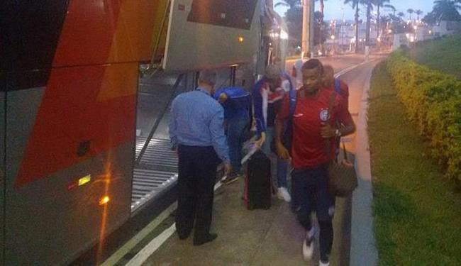 Delegação tricolor chegou a Varginha depois de mais de 9 horas de viagem - Foto: Divulgação | E.C. Bahia