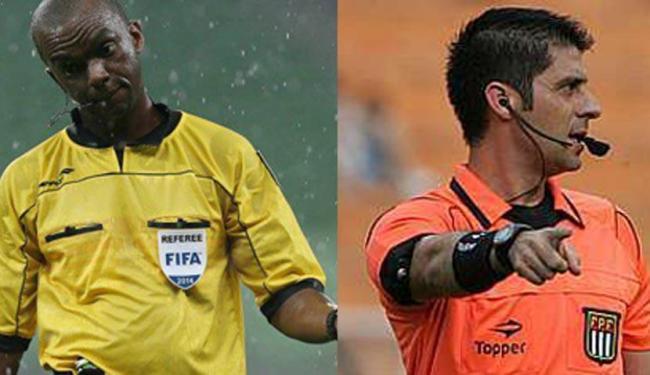 (A esquerda) Luiz Flávio foi trocado pela comissão de arbitragem. (A direita) Novo árbitro escalado - Foto: Reprodução